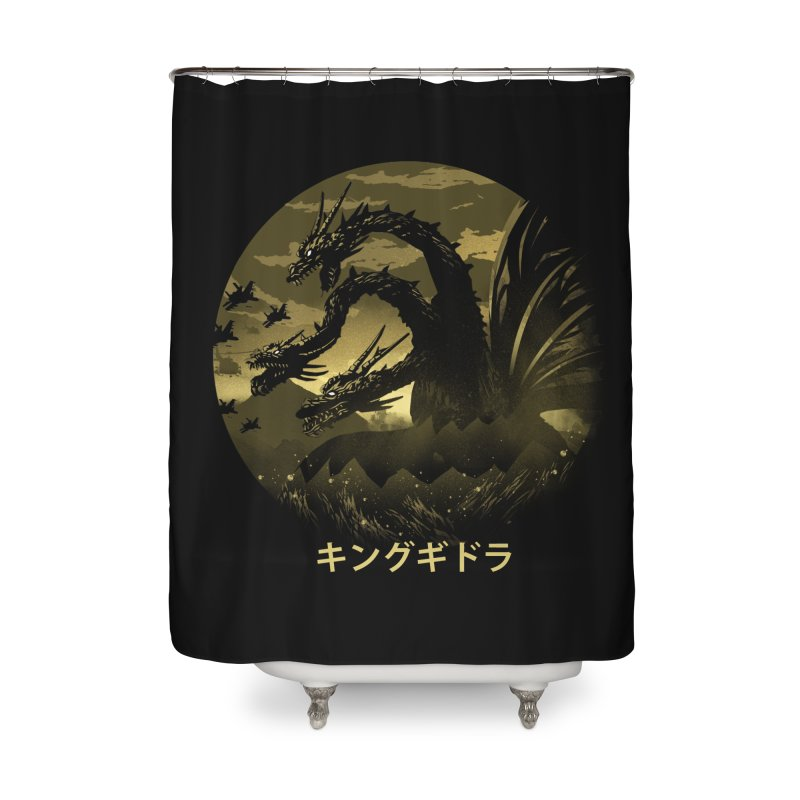 King Ghidorah Home Shower Curtain by dandingeroz's Artist Shop