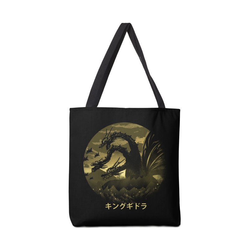 King Ghidorah Accessories Tote Bag Bag by dandingeroz's Artist Shop