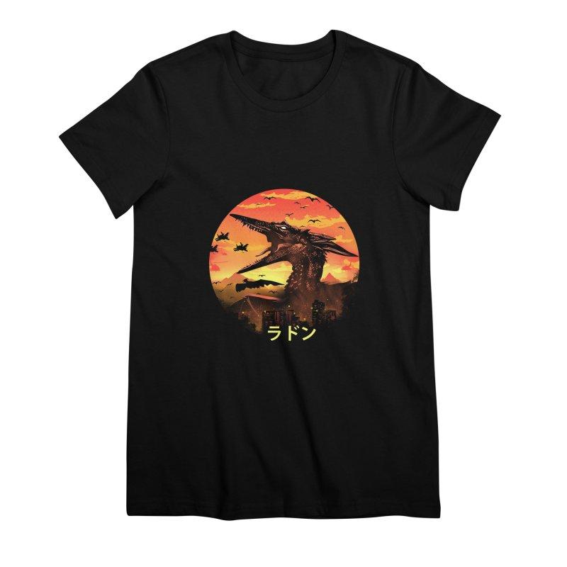 Kaiju Rodan Women's Premium T-Shirt by dandingeroz's Artist Shop