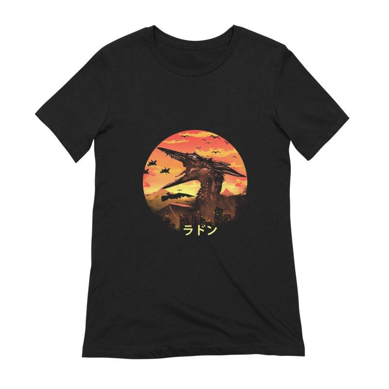 Kaiju Rodan Women's Extra Soft T-Shirt by dandingeroz's Artist Shop