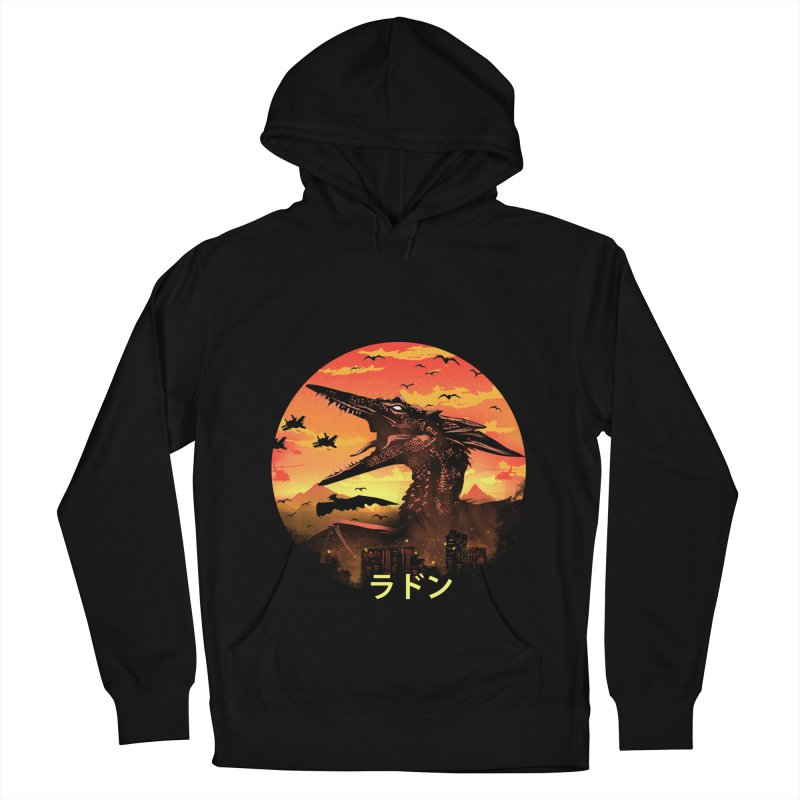 Kaiju Rodan Men's French Terry Pullover Hoody by dandingeroz's Artist Shop