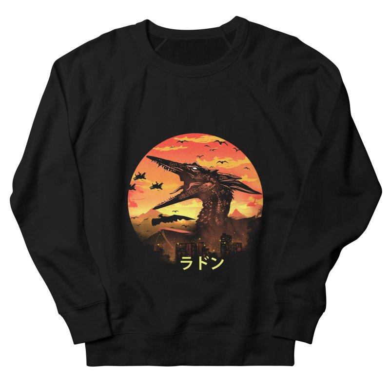 Kaiju Rodan Men's French Terry Sweatshirt by dandingeroz's Artist Shop