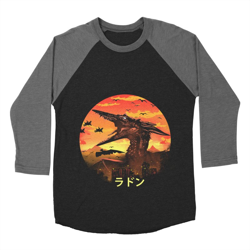 Kaiju Rodan Men's Baseball Triblend Longsleeve T-Shirt by dandingeroz's Artist Shop