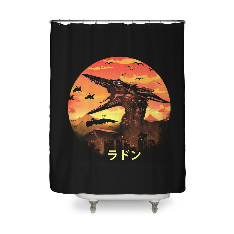 Kaiju Rodan Home Shower Curtain by dandingeroz's Artist Shop