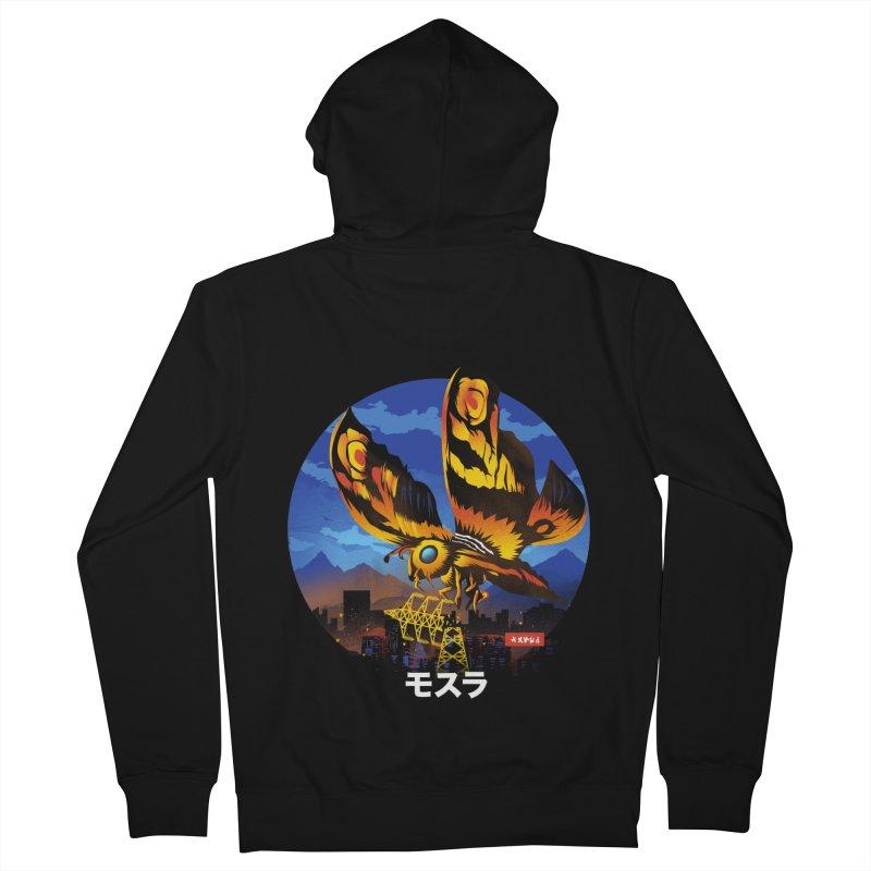 Kaiju Mothra Men's French Terry Zip-Up Hoody by dandingeroz's Artist Shop
