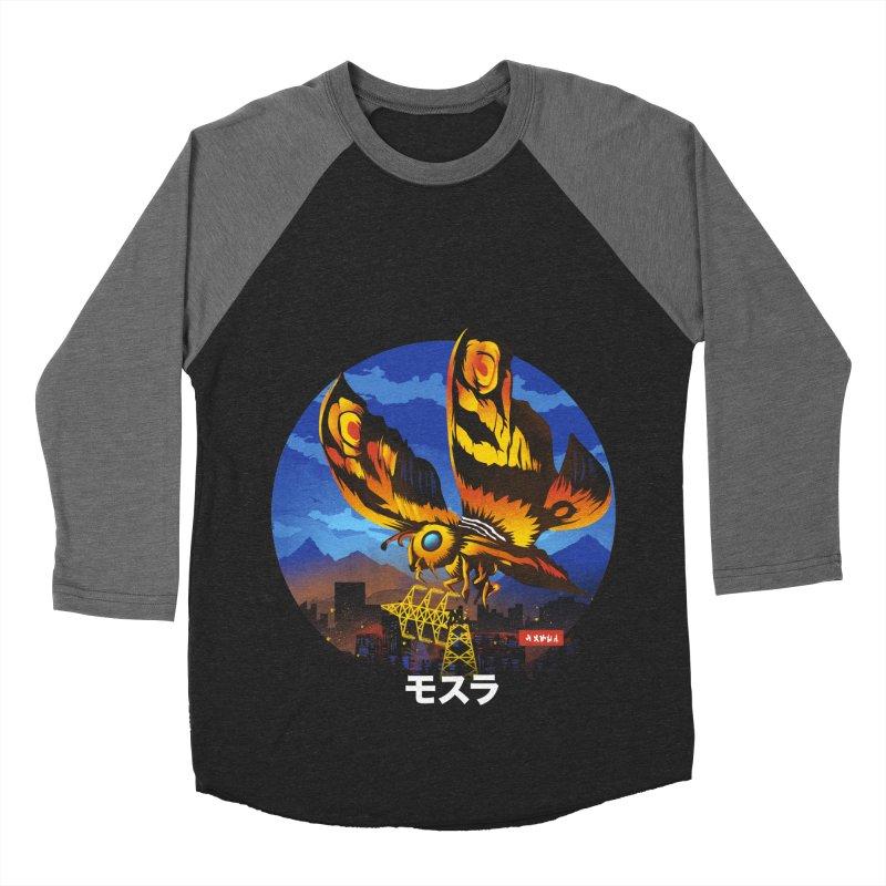 Kaiju Mothra Women's Baseball Triblend Longsleeve T-Shirt by dandingeroz's Artist Shop