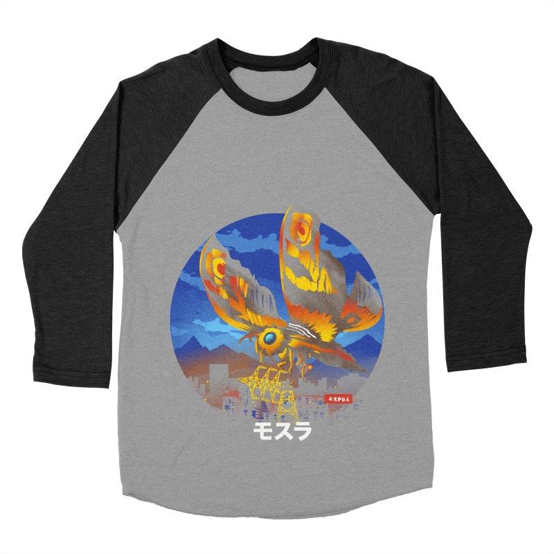 Kaiju Mothra Men's Baseball Triblend Longsleeve T-Shirt by dandingeroz's Artist Shop