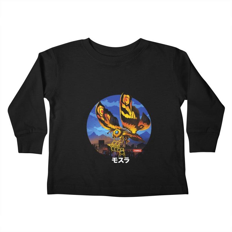 Kaiju Mothra Kids Toddler Longsleeve T-Shirt by dandingeroz's Artist Shop