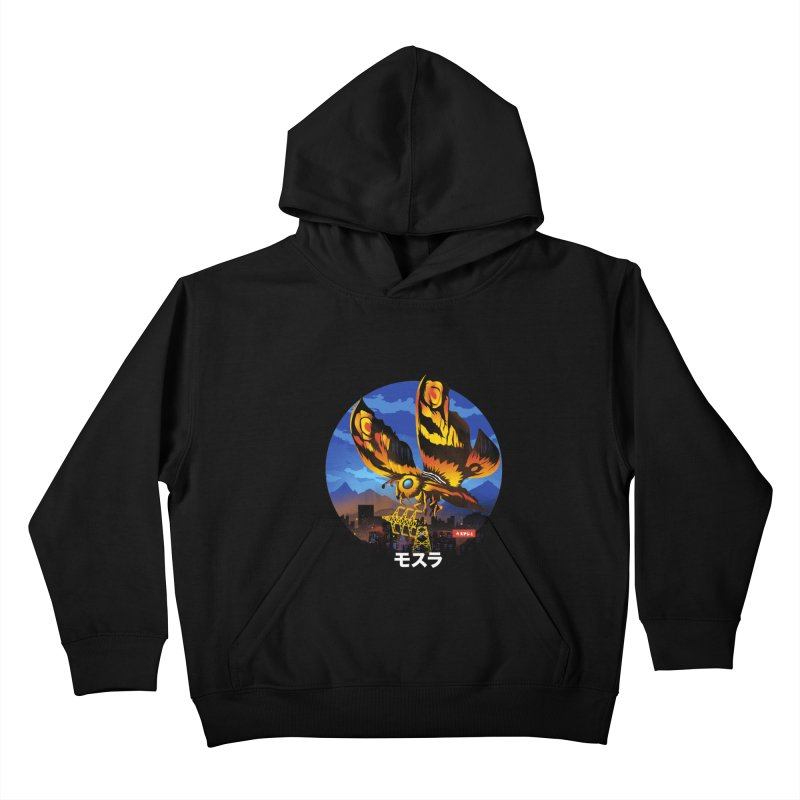 Kaiju Mothra Kids Pullover Hoody by dandingeroz's Artist Shop