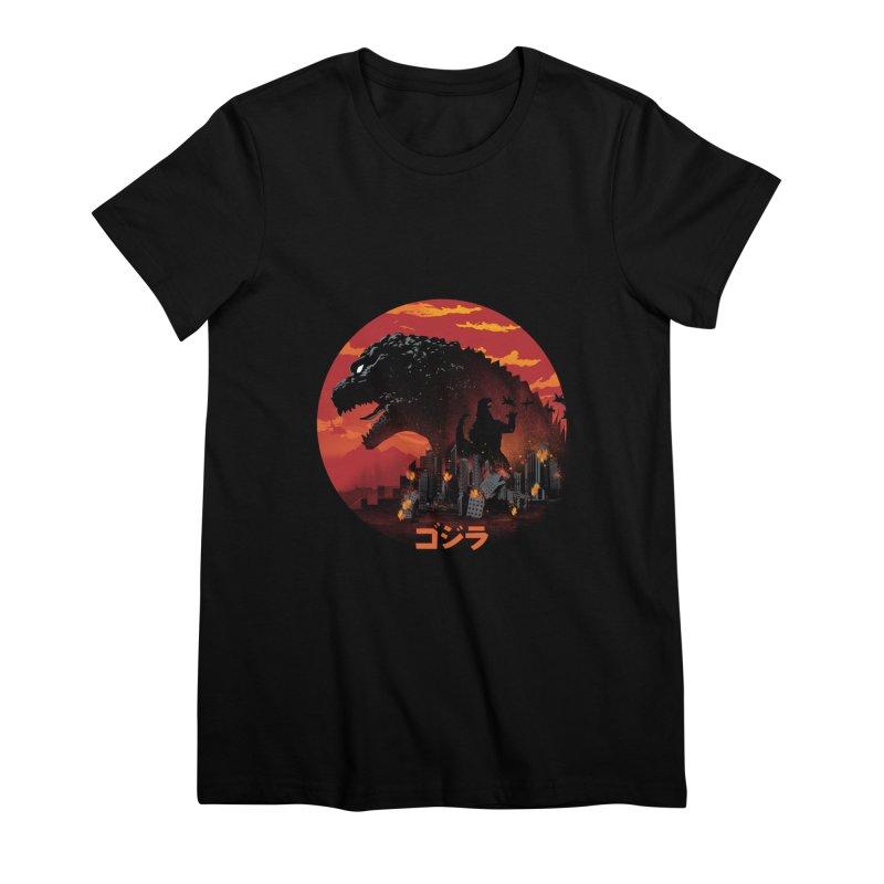 King Kaiju Women's Premium T-Shirt by dandingeroz's Artist Shop