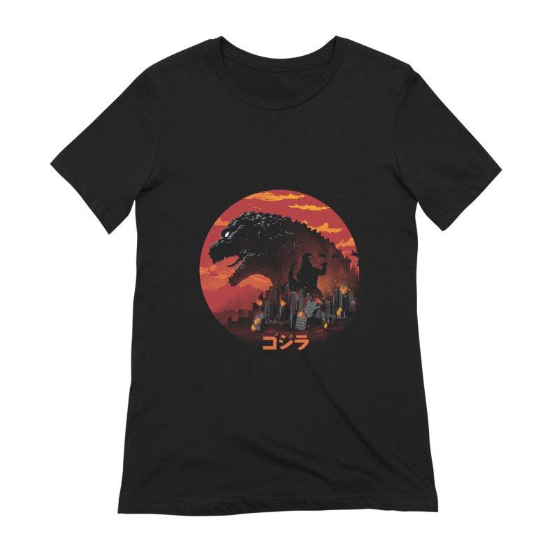 King Kaiju Women's Extra Soft T-Shirt by dandingeroz's Artist Shop