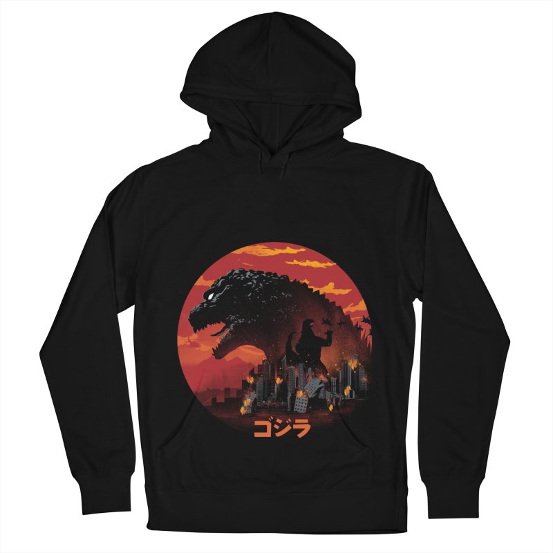 King Kaiju Men's French Terry Pullover Hoody by dandingeroz's Artist Shop