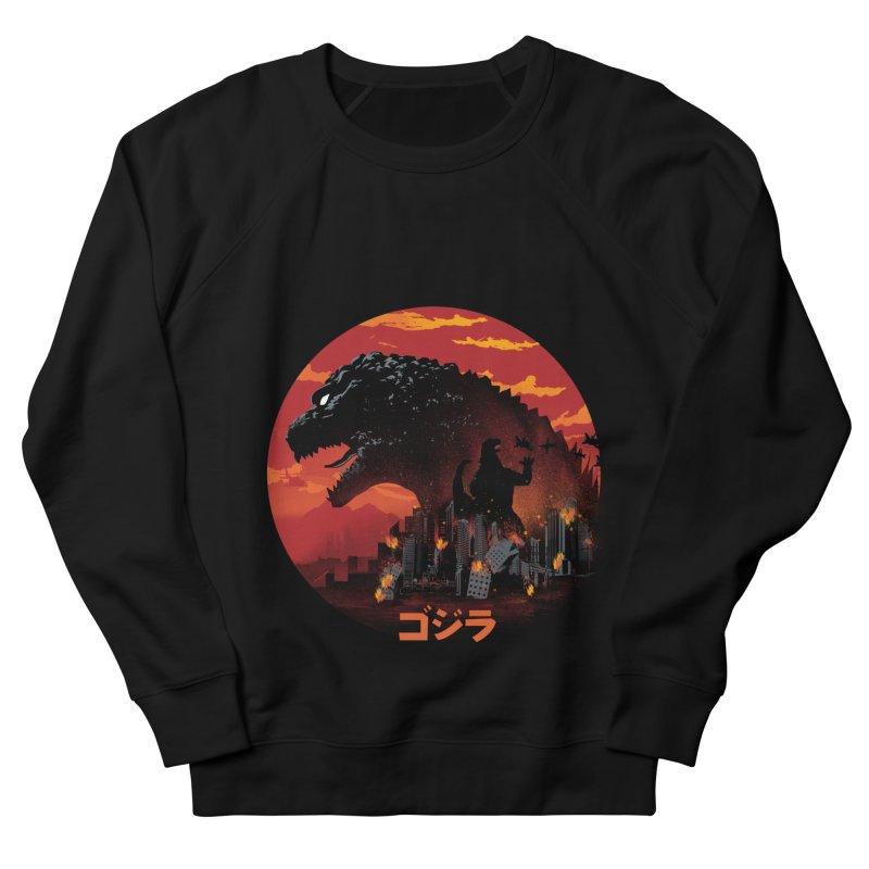 King Kaiju Men's French Terry Sweatshirt by dandingeroz's Artist Shop
