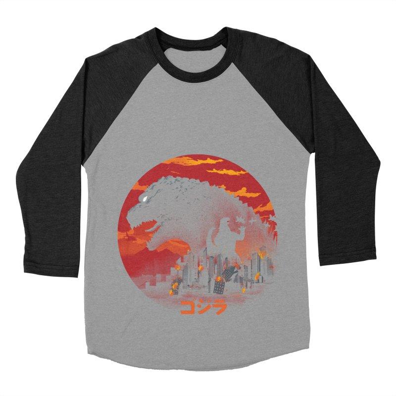 King Kaiju Women's Baseball Triblend Longsleeve T-Shirt by dandingeroz's Artist Shop