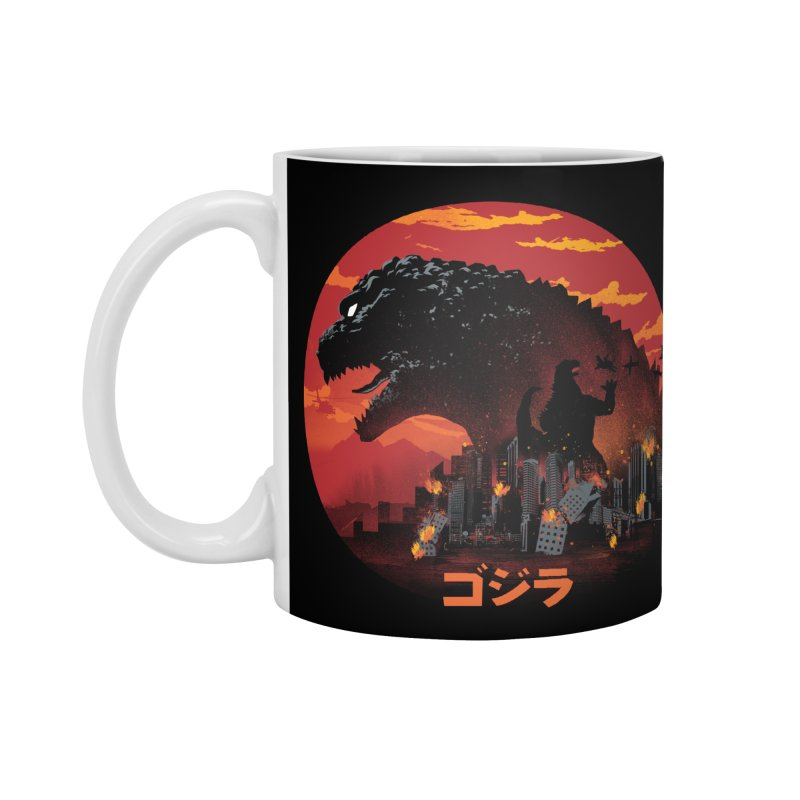 King Kaiju Accessories Standard Mug by dandingeroz's Artist Shop