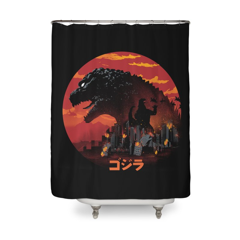 King Kaiju Home Shower Curtain by dandingeroz's Artist Shop