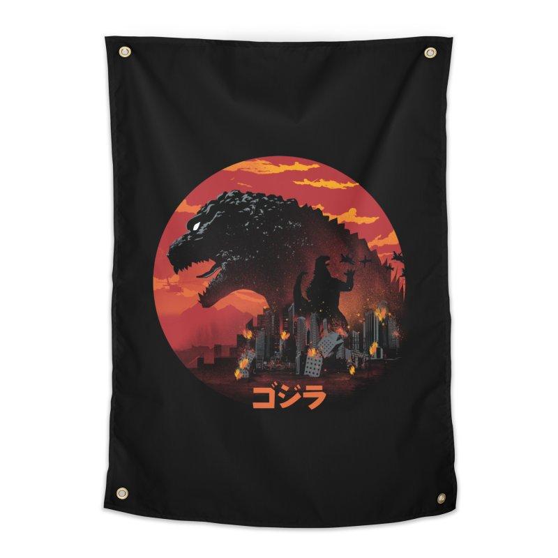 King Kaiju Home Tapestry by dandingeroz's Artist Shop
