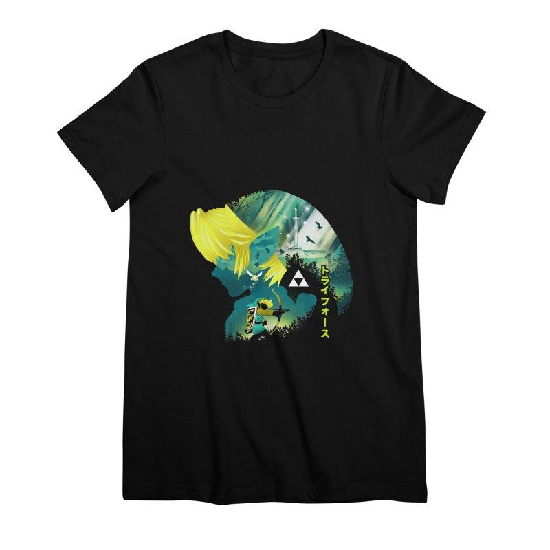 Hyrule Hero Women's Premium T-Shirt by dandingeroz's Artist Shop