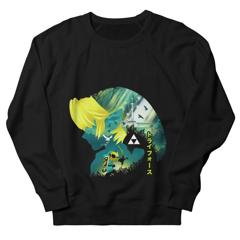 Hyrule Hero Men's French Terry Sweatshirt by dandingeroz's Artist Shop