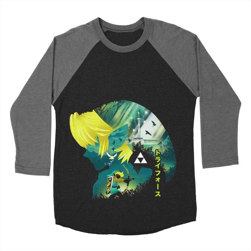Hyrule Hero Men's Baseball Triblend Longsleeve T-Shirt by dandingeroz's Artist Shop