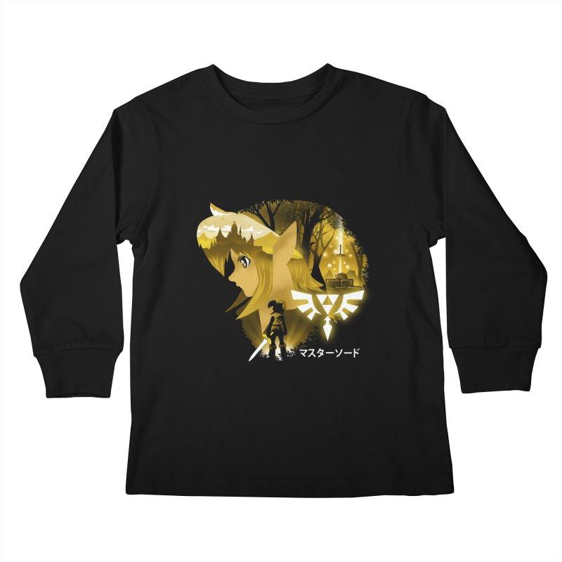 The Chosen Hero Kids Longsleeve T-Shirt by dandingeroz's Artist Shop