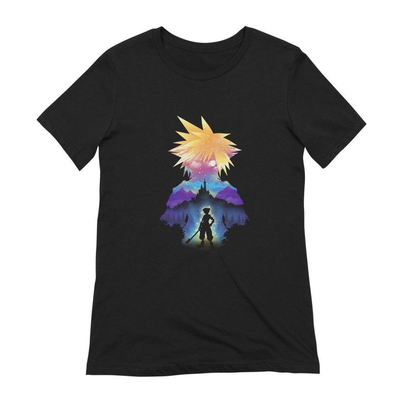 Midnight Hearts Women's Extra Soft T-Shirt by dandingeroz's Artist Shop