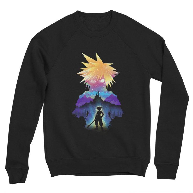 Midnight Hearts Women's Sponge Fleece Sweatshirt by dandingeroz's Artist Shop