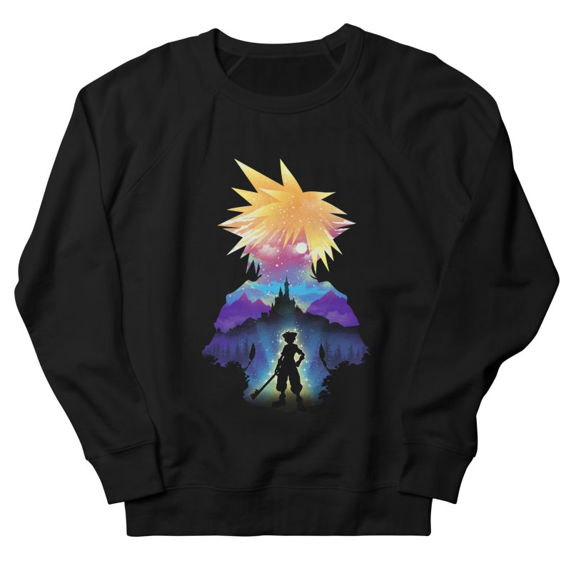 Midnight Hearts Men's French Terry Sweatshirt by dandingeroz's Artist Shop