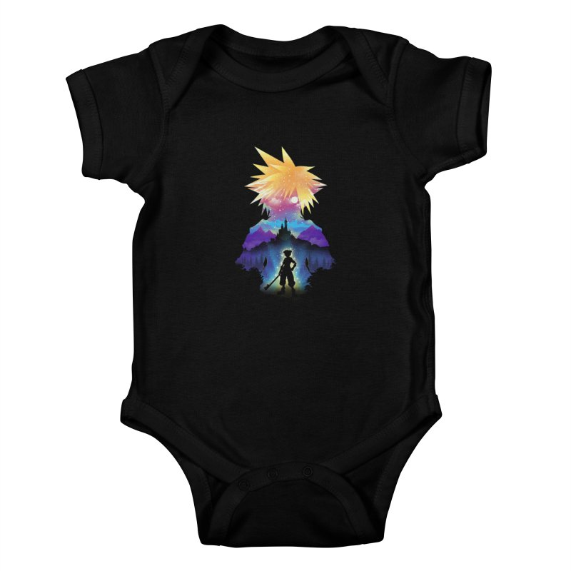 Midnight Hearts Kids Baby Bodysuit by dandingeroz's Artist Shop