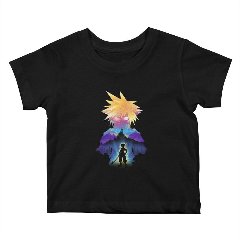 Midnight Hearts Kids Baby T-Shirt by dandingeroz's Artist Shop
