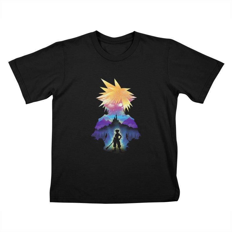 Midnight Hearts Kids T-Shirt by dandingeroz's Artist Shop