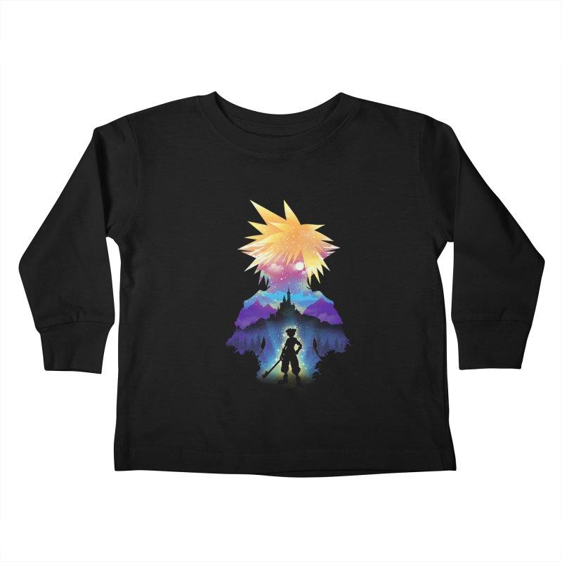 Midnight Hearts Kids Toddler Longsleeve T-Shirt by dandingeroz's Artist Shop