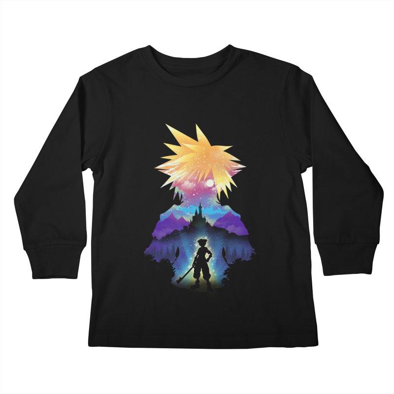 Midnight Hearts Kids Longsleeve T-Shirt by dandingeroz's Artist Shop