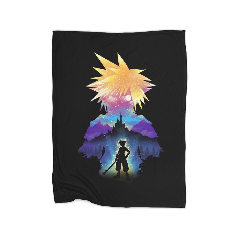 Midnight Hearts Home Fleece Blanket Blanket by dandingeroz's Artist Shop