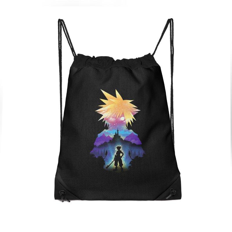 Midnight Hearts Accessories Drawstring Bag Bag by dandingeroz's Artist Shop