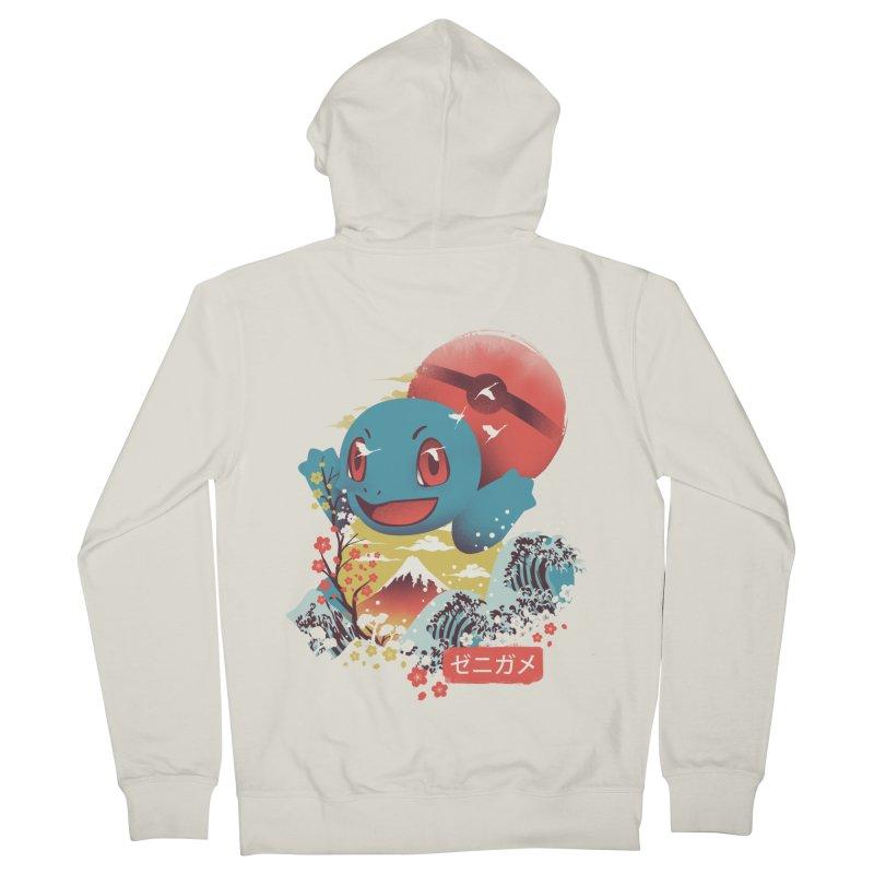 Water Monster Men's French Terry Zip-Up Hoody by dandingeroz's Artist Shop