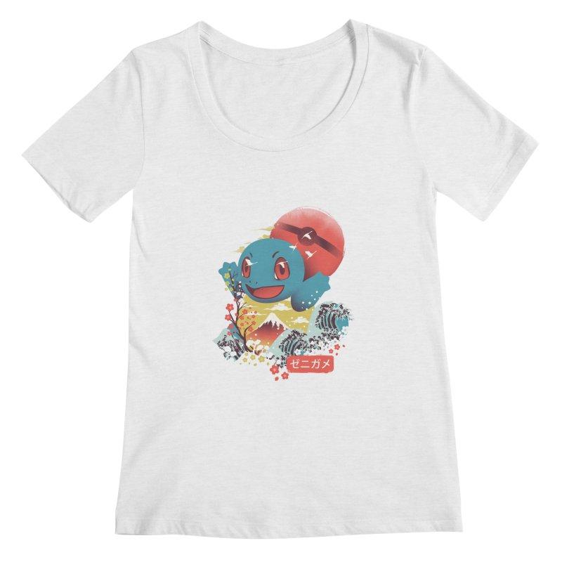 Water Monster Women's Regular Scoop Neck by dandingeroz's Artist Shop