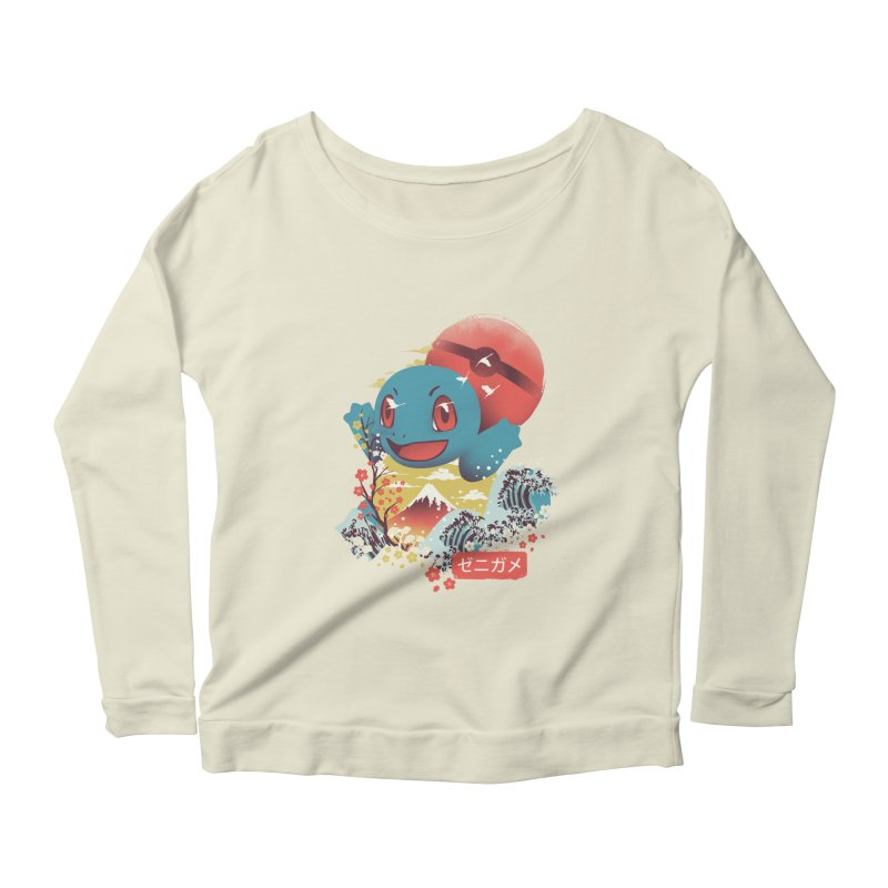 Water Monster Women's Scoop Neck Longsleeve T-Shirt by dandingeroz's Artist Shop