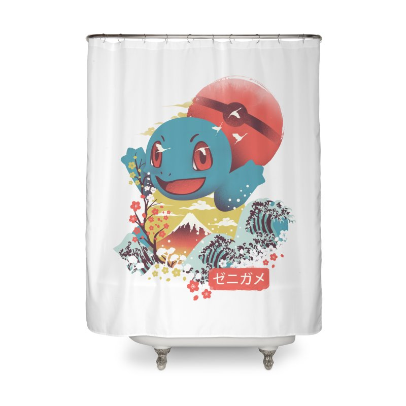 Water Monster Home Shower Curtain by dandingeroz's Artist Shop