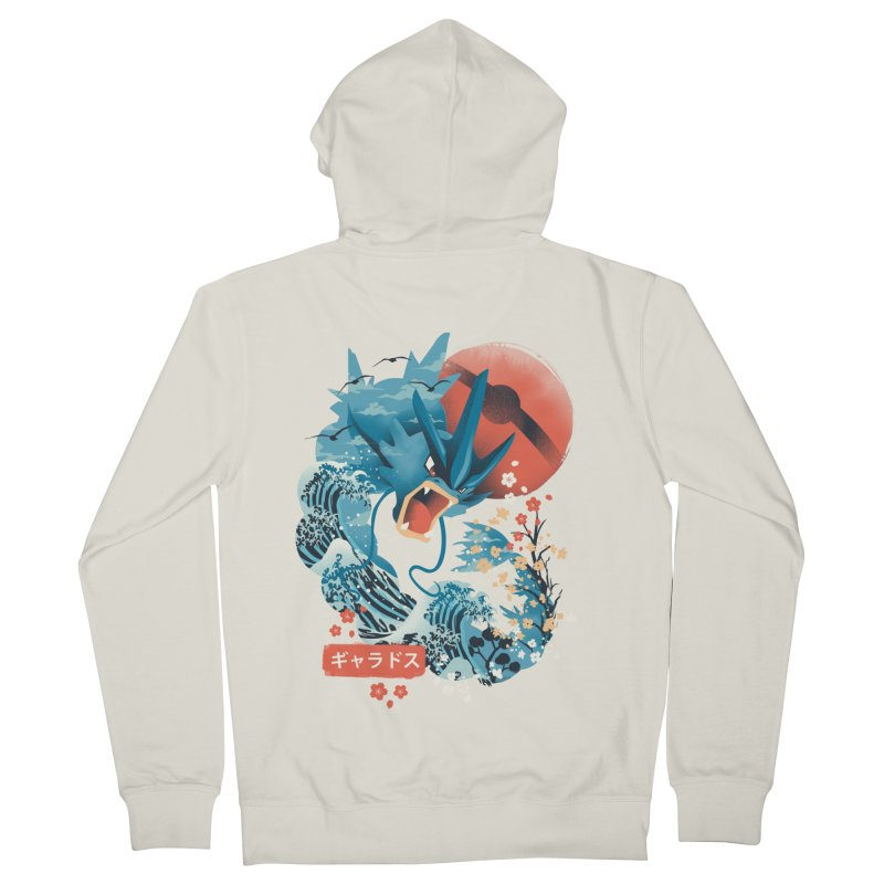 Flying Monster Men's French Terry Zip-Up Hoody by dandingeroz's Artist Shop