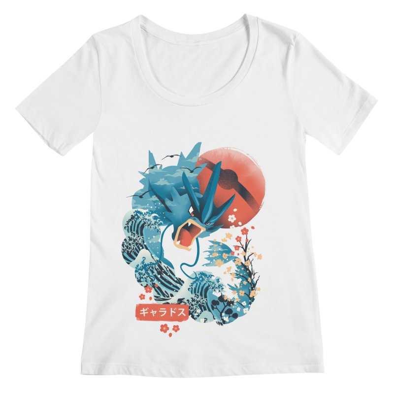 Flying Monster Women's Regular Scoop Neck by dandingeroz's Artist Shop
