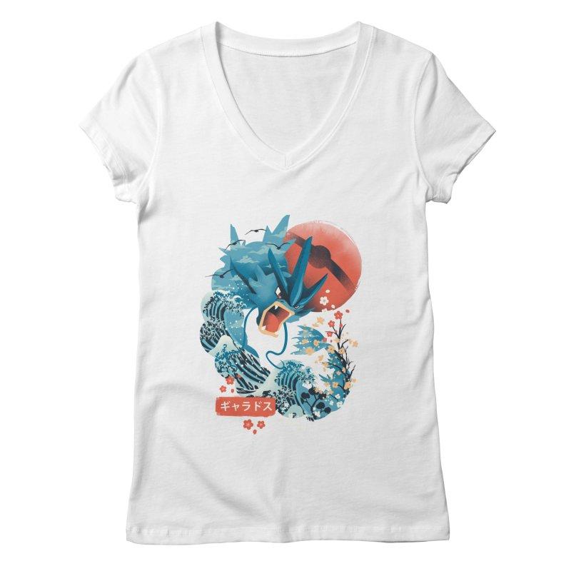 Flying Monster Women's Regular V-Neck by dandingeroz's Artist Shop