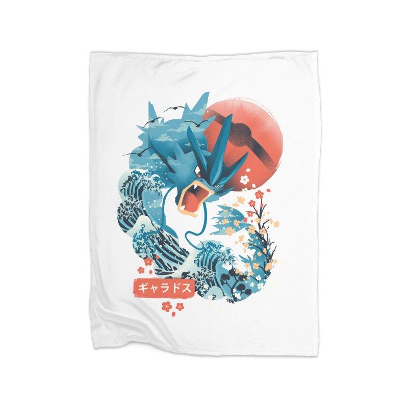 Flying Monster Home Fleece Blanket Blanket by dandingeroz's Artist Shop