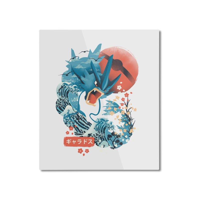 Flying Monster Home Mounted Aluminum Print by dandingeroz's Artist Shop