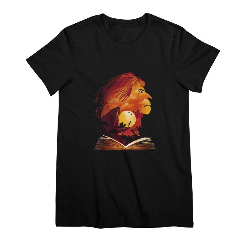 Book of Pride Rock Women's Premium T-Shirt by dandingeroz's Artist Shop