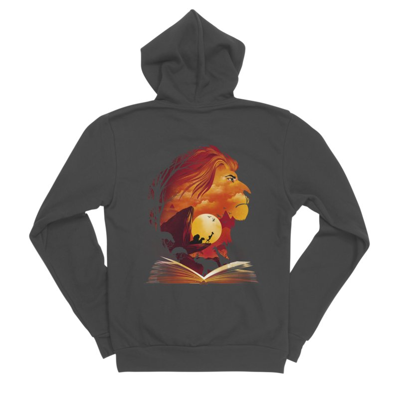 Book of Pride Rock Women's Sponge Fleece Zip-Up Hoody by dandingeroz's Artist Shop