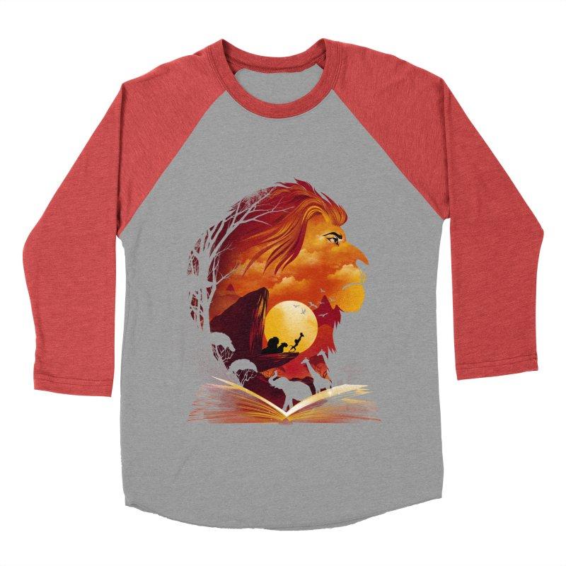 Book of Pride Rock Men's Baseball Triblend Longsleeve T-Shirt by dandingeroz's Artist Shop