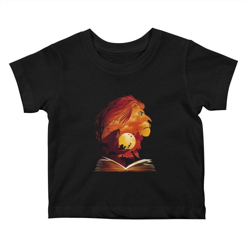 Book of Pride Rock Kids Baby T-Shirt by dandingeroz's Artist Shop