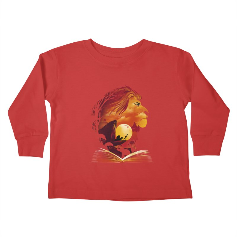 Book of Pride Rock Kids Toddler Longsleeve T-Shirt by dandingeroz's Artist Shop