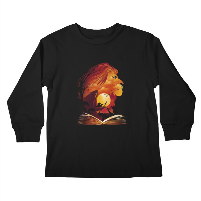 Book of Pride Rock Kids Longsleeve T-Shirt by dandingeroz's Artist Shop